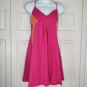 OP Pink Color Block Summer Mini Dress Size XL